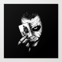joker Canvas Prints featuring Joker by NickHarriganArtwork