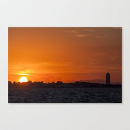 Sunset at seaside in Izmir (Turkey) Canvas Print