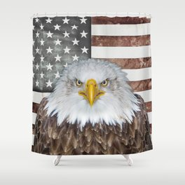 American Bald Eagle Patriot Shower Curtain