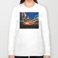 minneapolis Long Sleeve T-shirts featuring Minneapolis at Lightspeed by Katie Mae Dickinson