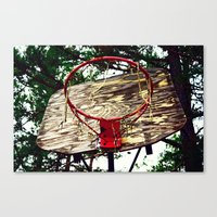 basketball Canvas Prints featuring Basketball by Denise Burns