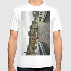 Stockholm, Sweden boats MEDIUM Mens Fitted Tee White
