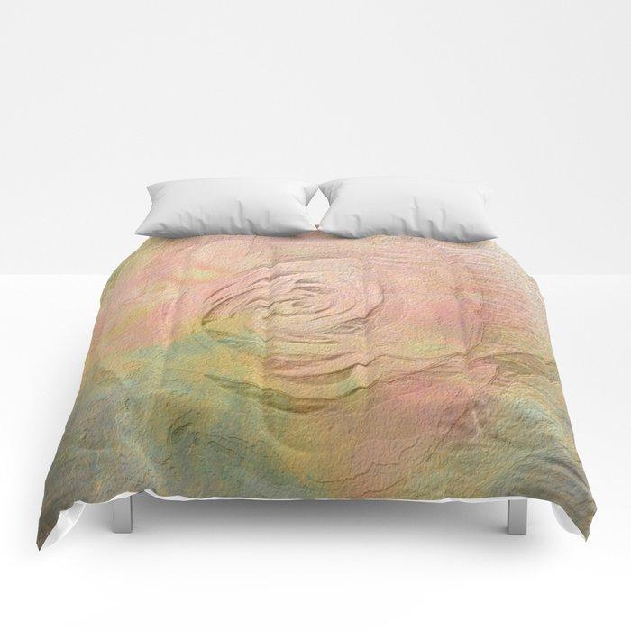 Timeless Vintage Pressed Pastel Rose Comforters
