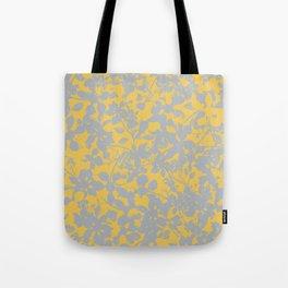 Sunshine Yellow - Broken but Flourishing Floral Pattern Tote Bag