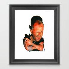 Bruce Willis Framed Art Print