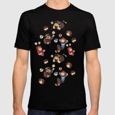 Game Grumps Pattern MEDIUM Black Mens Fitted Tee