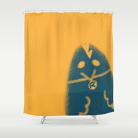 rooster Shower Curtains featuring Rooster by Leanne Friedberg