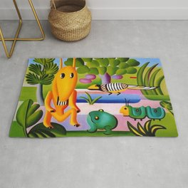 Classical Masterpiece 'A Cuca' by Tarsila do Amaral Rug