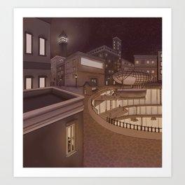 Docking Station Art Print