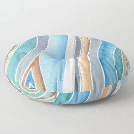 Flowing - Abstract Watercolor/ Acryl Floor Pillow