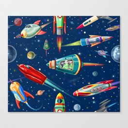 rockets in traffic Canvas Print