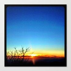 Mountain sunset. Canvas Print