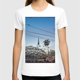 over smal trown the sunset T-shirt