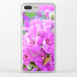 Purple Flowers in the Garden/ Floral/ Summer Sun Clear iPhone Case