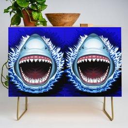 Shark Jaws Attack Credenza