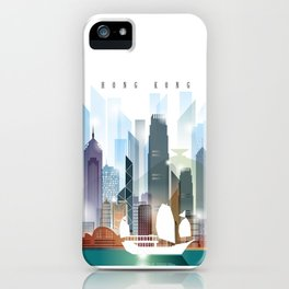 The city skyline of Hong Kong iPhone Case