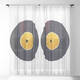 Vinyl Record Star Sign Art | Leo Sheer Curtain