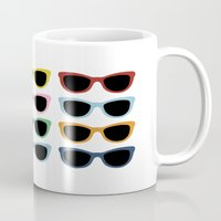 sunglasses Mugs featuring Sunglasses #4 by Project M
