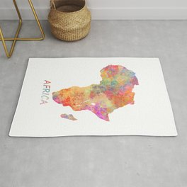 Africa map 2 Rug