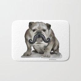 British Bulldog, British Moustache Bath Mat