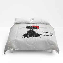 Evil Christmas Cat Comforters
