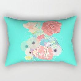 A heart, a bird and flowers. Rectangular Pillow