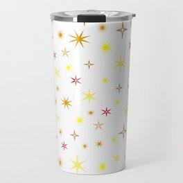 Star shapes of warm colors Travel Mug