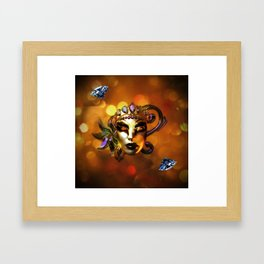 Carnival Mask Framed Art Print
