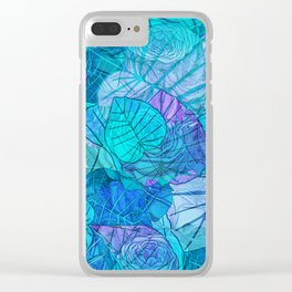 Leaves in Rosy Background 3 Clear iPhone Case