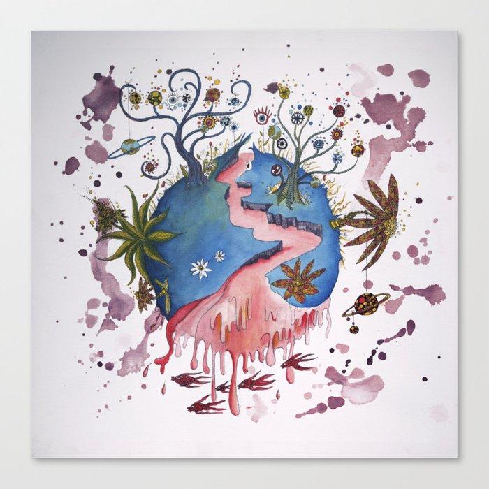 The strange planet Canvas Print