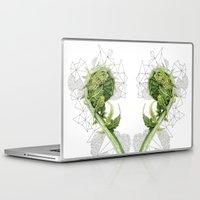 fern Laptop & iPad Skins featuring Fern by Line Holtegaard