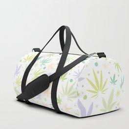 Cute Pastel Cannabis Pattern Duffle Bag