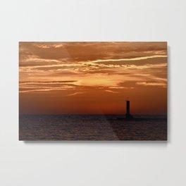 Sunset in Michigan Metal Print