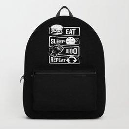 Eat Sleep Judo Repeat - Martial Arts Defence Backpack
