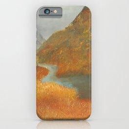 Glen Etive, wildness, landscape, oil painting by Luna Smith aka Lu iPhone Case