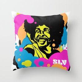 Soul Activism :: Sly Stone Throw Pillow