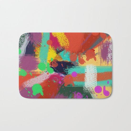 Color clock Bath Mat