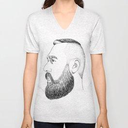 beard gold Unisex V-Neck