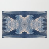 nordic Area & Throw Rugs featuring Nordic Blues by KasiaDesign