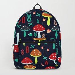 Multicolored mushrooms Backpack