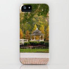 Gazebo In Autumn iPhone Case