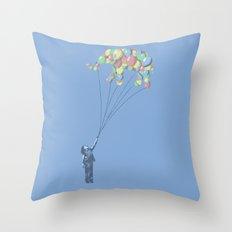 Elephants Can Fly Throw Pillow