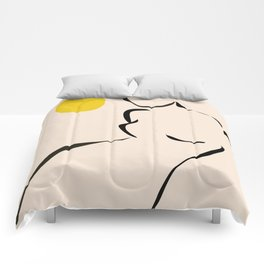 abstract minimal nude Comforters