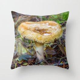 Small Fungi Throw Pillow