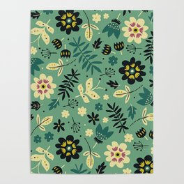 As flores do seu jardim Poster