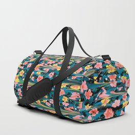 MELTED FLOWERS Duffle Bag