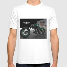Dale Earnhardt Jr. Harley MEDIUM Mens Fitted Tee White