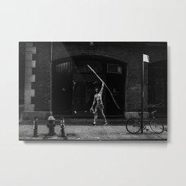 Walk tall and carry a big stick Metal Print