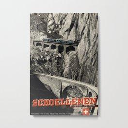 Schoellenen Vintage Travel Poster Metal Print