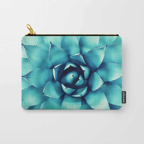 Macro Turquoise Plant Carry-All Pouch